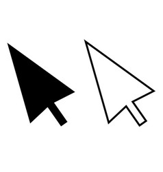 computer mouse click pointer cursor arrow on vector image vector image