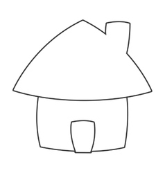Cute cartoon house icon vector
