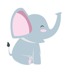 Cute little elephant icon vector