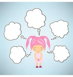 Dream girl cartoon vector