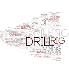 Drill word cloud concept vector