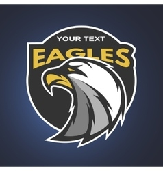 Eagle emblem logo for a sports team vector image