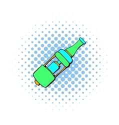 Electronic cigarette mouthpiece icon comics style vector image