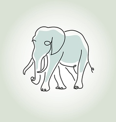 Elephant in minimal line style vector image vector image