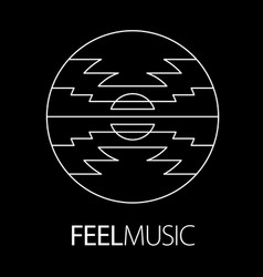Feel music logo poster vector