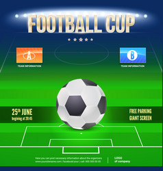 football event poster design night football vector image