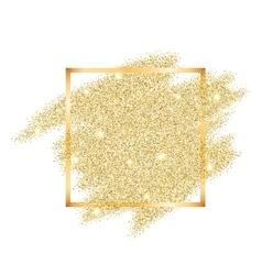 Golden glitter template vector