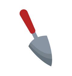 Hand shovel over white vector
