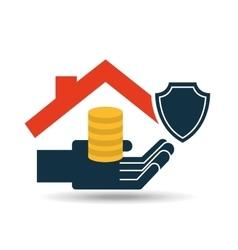 House money insurance concept design graphic vector