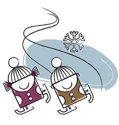 Ice skating vector