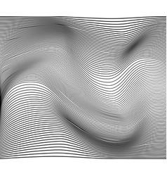 monohrome striped surface vector image