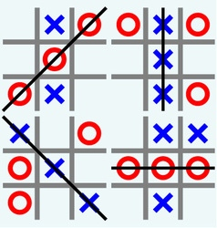 Scribble tic tac toe vector image