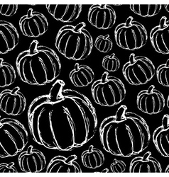 simple hand drawn doodle pumpkin dark seamless vector image