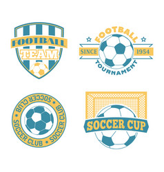soccer badge set vector image
