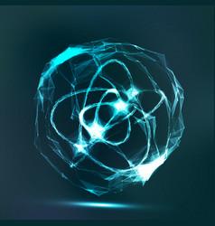 splash particles connection structure digital vector image vector image