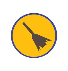 Sweeping broom vector