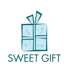sweet gift logo design vector image