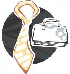 tie and briefcase vector image vector image