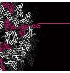 Vignette background vector image vector image