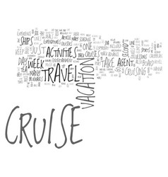Why everyone can enjoy the cruise travel vector