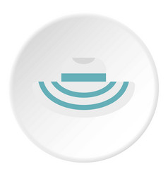 Women beach hat icon circle vector