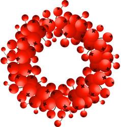 wreath of red berries vector image