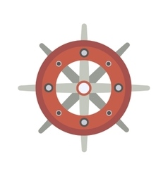 Yacht wheel vector image