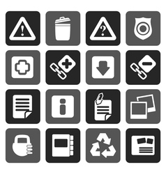 Flat web site and computer icons vector