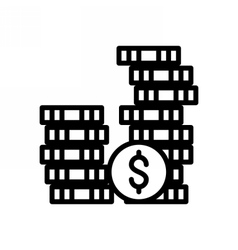 Investment outline icon vector