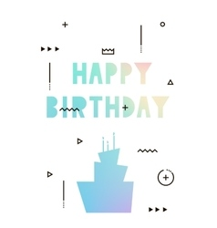 Modern card hologram on the day of birth vector