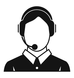 Client services  phone assistance icon vector