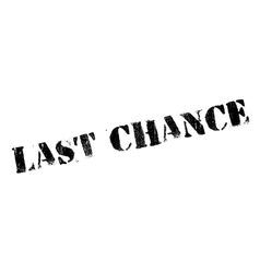 Last chance stamp vector