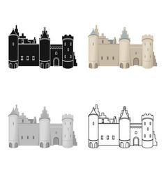 Protective castle of belgiumthe dark belgian wolf vector