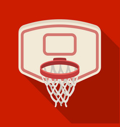 Shield with basketbasketball single icon in flat vector