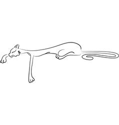 Lying cat vector image