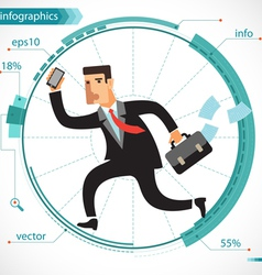 Businessman active vector