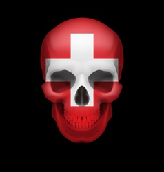 Swiss flag skull vector