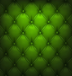 Green upholstery leather pattern background vector