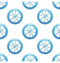 Basketball sign pattern vector