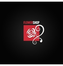 flower rose shop concept design background vector image