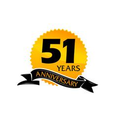 51 years ribbon anniversary vector image vector image