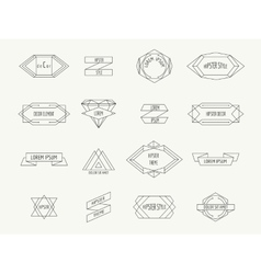 Vintage geometric hipster borders for labels vector