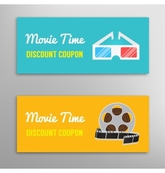Cinema movie discount coupon vector