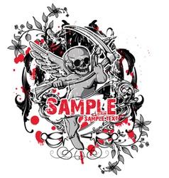 dark gothic t-shirt design vector image