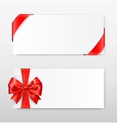 Celebration paper greet cards with red festive vector