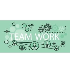 Team work concept banner design vector