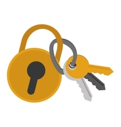 Safety lock with keys vector
