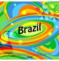Brazil background for travel brochure banner vector image