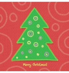Christmas tree in patchwork style vector