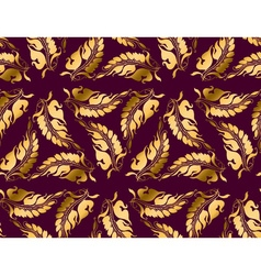 Art nouveau style purple pattern vector